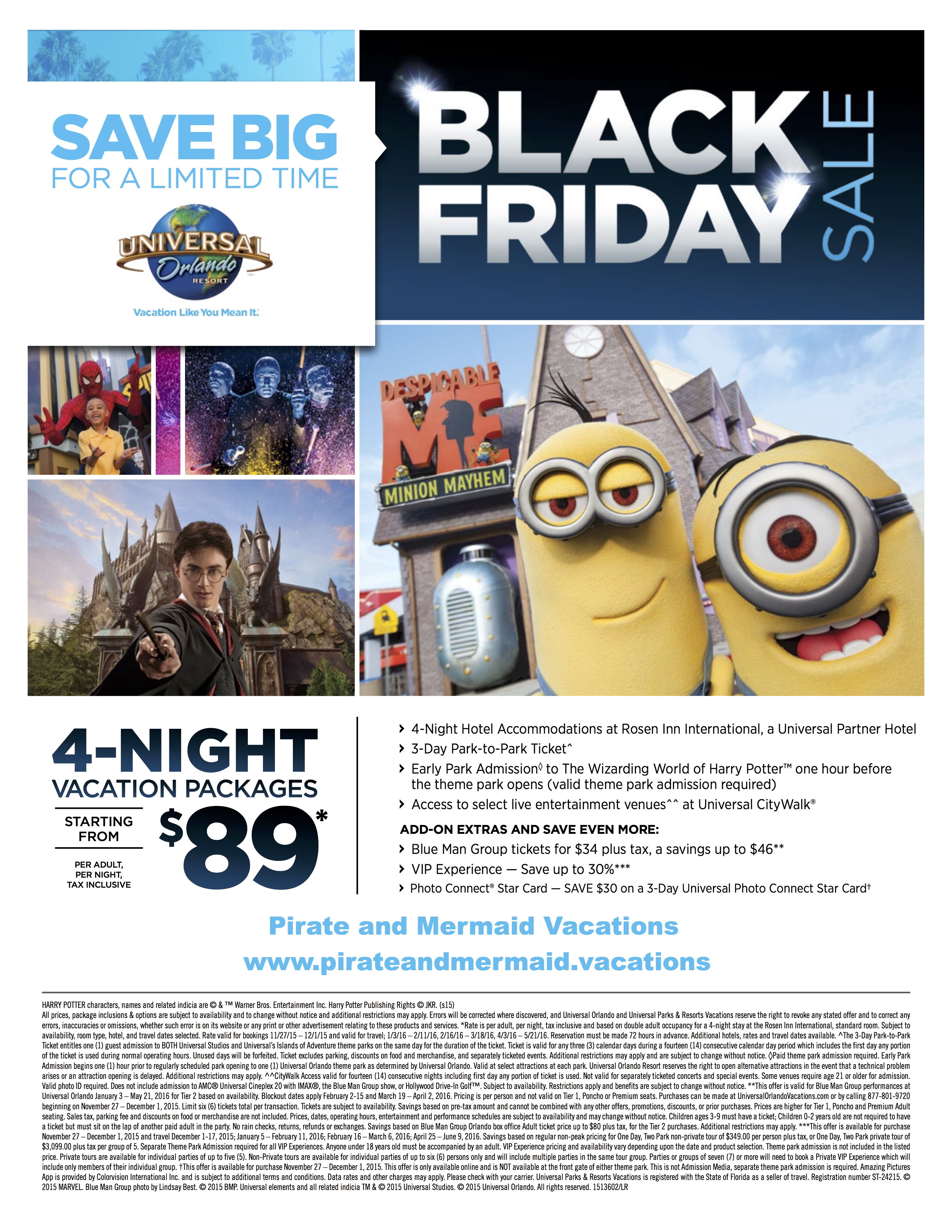 Universal resort black friday special book by 12 1 15 for Black friday vacation deals all inclusive