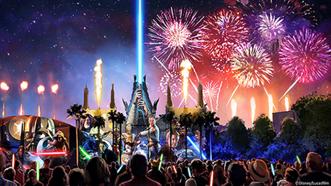 EPIC FIREWORKS AND PROJECTION SHOW, LIVE ONSTAGE ENTERTAINMENT AND STORMTROOPER MARCHES JOIN FORCE-FILLED LINEUP AT DISNEY'S HOLLYWOOD STUDIOS