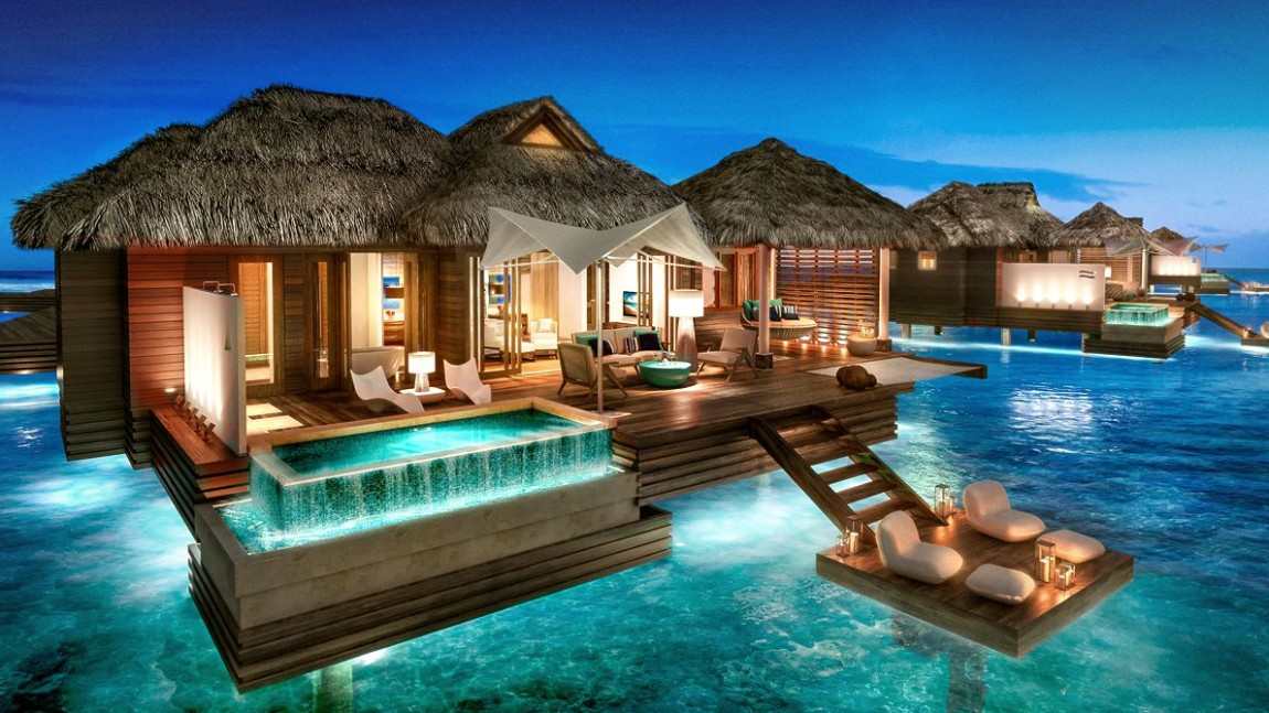 Visit The New Over-the-Water Suites at Sandals Royal Caribbean