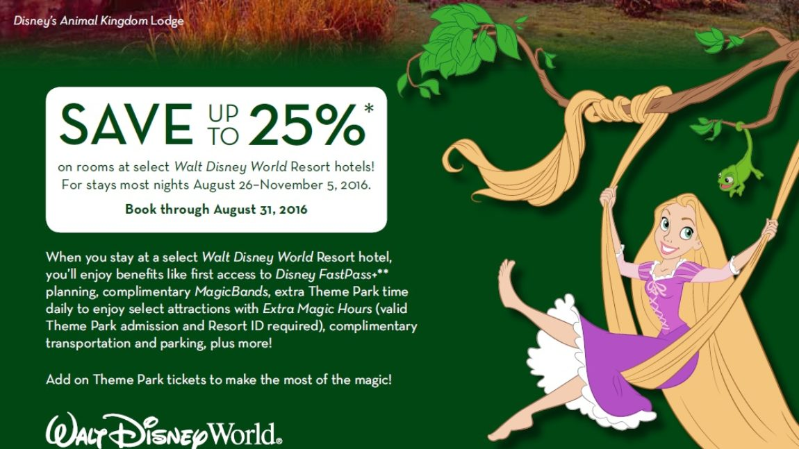This Fall You Can Save Up to 25% on Rooms at Select Walt Disney World Resort Hotels
