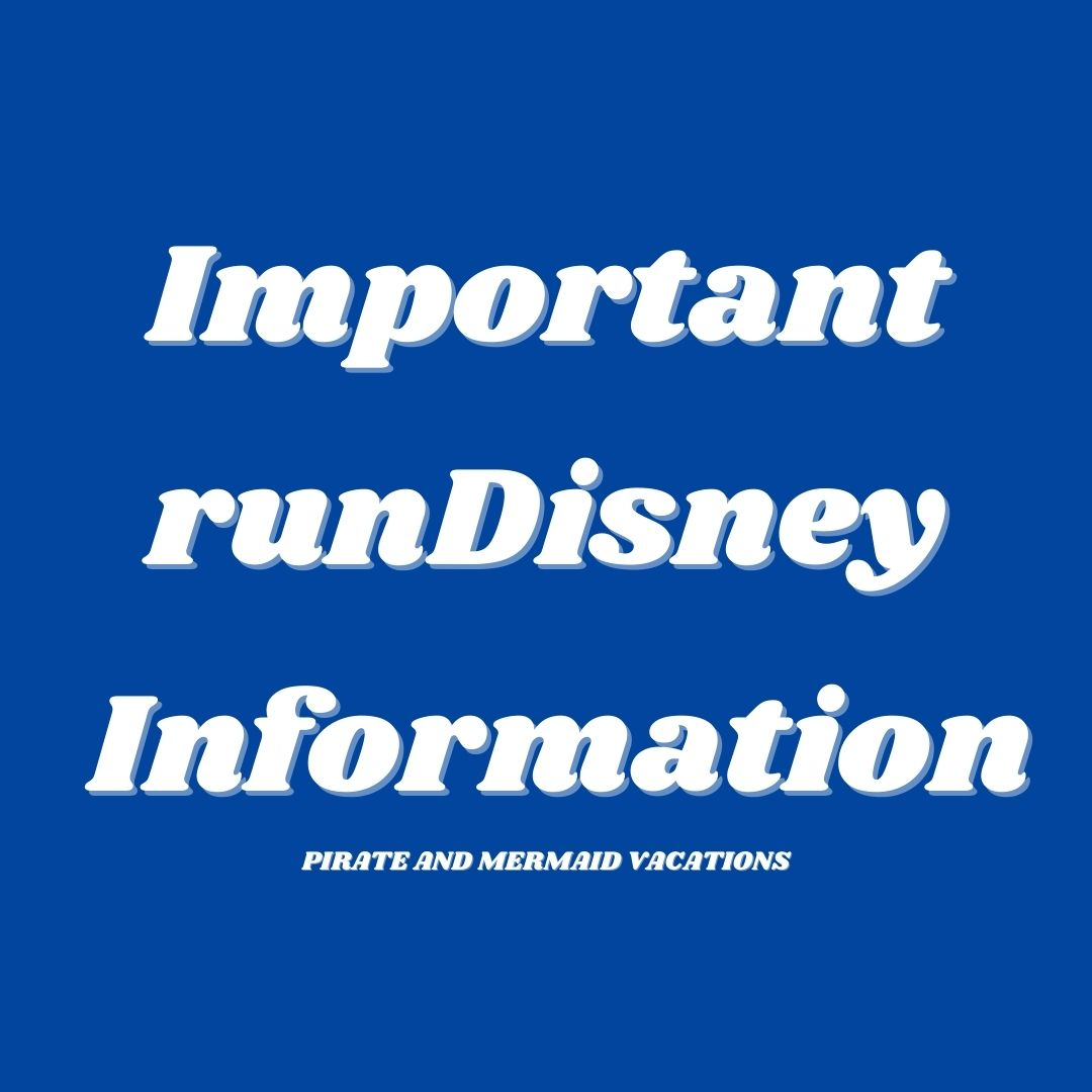 Important runDisney Update